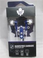 NHL Toronto Maple Leafs Earbuds w/ mic