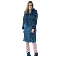 Guillaume Luxe Micro Mink Zip Front Robe w/Hood S