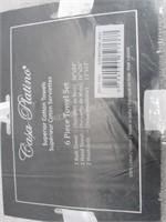 Casa Platino 6 Piece 100% Cotton Towel Set