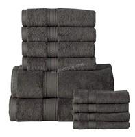 Casa Platino 10pc 100% Cotton Towel Set