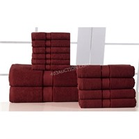 Elegance Spa 100% Cotton 12-piece Towel Set