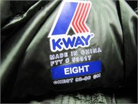 K-Way Women's Lison Thermo Quilt Jacket SZ 8 $403
