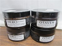 Lot of 4 Otavea All Natural Body Scrubs 237ml