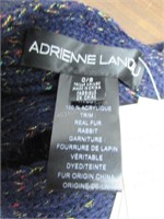 Adrienne Landau Ribbed Rabbit Fur Pom-Pom Scarf