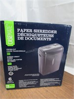 CaseMate 6-Sheet Cross-cut Paper Shredder