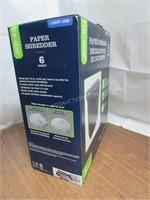 Pen+Gear 6-Sheet Cross-cut Paper Shredder