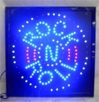 ROCK & ROLL LED LIGHT UP SIGN