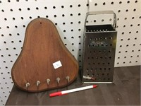 KEY RACK, CHEESE GRATER