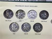 FRANKLIN HALF DOLLAR ALBUM (44) & EMPTY ALBUM
