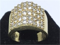 14K GOLD RING W/DIAMONDS, SIZE 5