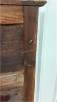 Pie Safe. 4 tin safe in doors with drawer below.