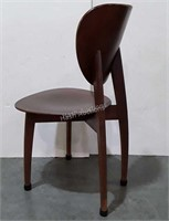 Chair, molded wooden seated accent type chair.
