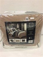 CHIC 6 PIECE KING COMFORTER SET (USED)