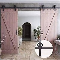 "HOMACER SLIDING BARN DOOR HARDWARE SET (96"" STEEL"