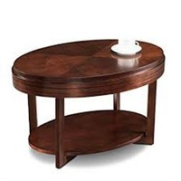 FAVORITE FINDS OVAL CONDO COFFEE TABLE CHOCOLATE