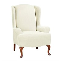 SURE FIT STRETCH MORGAN - WING CHAIR COVER
