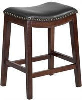 "OSP DESIGN 29"" SADDLE STOOL WITH NAIL HEAD"