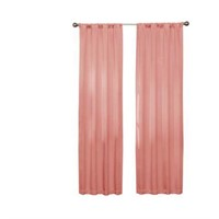 ECLIPSE DARELL 84 IN CORAL RED POCKET CURTAIN