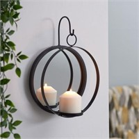 DANYA B. CANDLE SCONCE WITH MIRROR