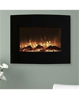 NORTHWEST STAINLESS STEEL ELECTRIC FIREPLACE WITH