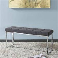 CORLIVING FABRIC BENCH