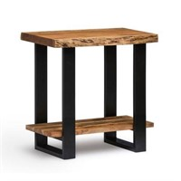 ALPINE NATURAL END TABLE (NOT ASSEMBLED)