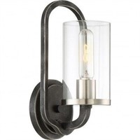 NUVO LIGHTING WALL SCONCE IRON BLACK BRUSHED