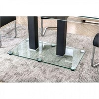 FURNITURE OF AMERICA BLACK DINING TABLE (POST
