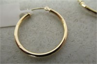 """As Is"" 10k Yellow Gold Hoop Earrings"