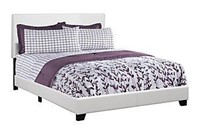 Monarch Specialties I 5911Q Bed with Leather Look