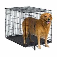 "New World Crates Single Door Dog Crate, Black, 42"""