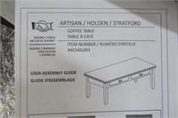 Simpli Home Artisan Solid Wood Coffee Table,