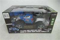 1:16 Scale High Speed Race Truck Blue/White