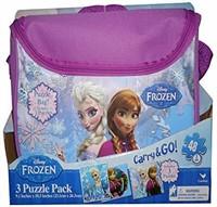 Disney Frozen Carry&Go 3 Puzzle Pack , 48 Pieces