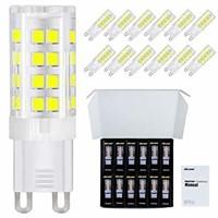 DiCUNO G9 LED Ceramic Base Light Bulbs, 4W (40W