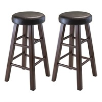 Winsome Wood Marta Assembled Round Bar Stool with