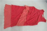 Eliza J Womens 10 Sleeveless Layered Dress, Pink