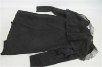 Chelsea 28 Womens XL Lace Collared Dress, Black