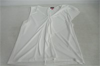 Vince Camuto Womens XL Flowy Top, White