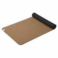 Gaiam Yoga Mat Cork Non-Toxic Rubber Backing,