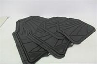 Armor All 78840 Black Rubber Floor Mat - 4 Piece