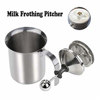 Milk Frothing Pitcher 400ML Milk Frother Steamer