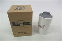 """As Is"" Ceramic Travel Coffee Mug with Lid (12 oz)"