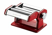 Ovente PA518R Vintage Stainless Steel Pasta Maker,