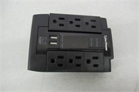 CyberPower CSP600WSU Surge Protector 6-AC Outlet