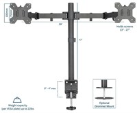 VIVO Dual LCD LED Monitor Desk Mount Stand Heavy