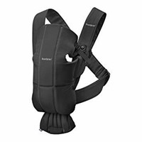 BABYBJORN Baby Carrier Mini, Cotton, Black, One