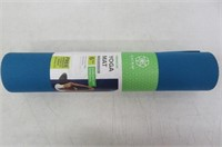 Gaiam Premium Solid Two-Sided Yoga Mat, Navy/Blue,