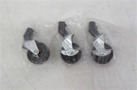 Camera Tripod Light Stand Caster Wheel Set of 3