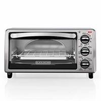BLACK+DECKER Toaster Oven, 4 Slice, Includes Bake